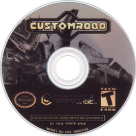 Artwork on the Disc for Custom Robo on the Nintendo GameCube.