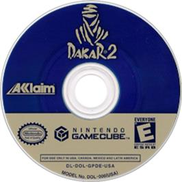 Artwork on the Disc for Dakar 2: The World's Ultimate Rally on the Nintendo GameCube.