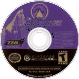 Artwork on the Disc for Dark Summit on the Nintendo GameCube.