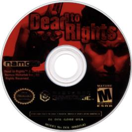 Artwork on the Disc for Dead to Rights on the Nintendo GameCube.