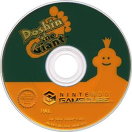 Artwork on the Disc for Doshin the Giant on the Nintendo GameCube.