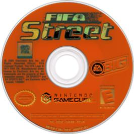 Artwork on the Disc for FIFA Street on the Nintendo GameCube.