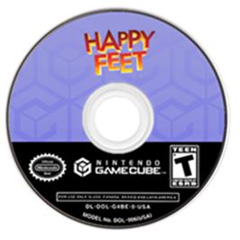 Artwork on the Disc for Happy Feet on the Nintendo GameCube.