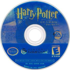 Artwork on the Disc for Harry Potter and the Chamber of Secrets on the Nintendo GameCube.