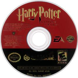 Artwork on the Disc for Harry Potter and the Goblet of Fire on the Nintendo GameCube.