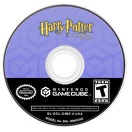 Artwork on the Disc for Harry Potter and the Sorcerer's Stone on the Nintendo GameCube.