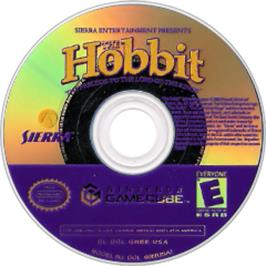 Artwork on the Disc for Hobbit on the Nintendo GameCube.