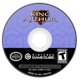 Artwork on the Disc for King Arthur on the Nintendo GameCube.