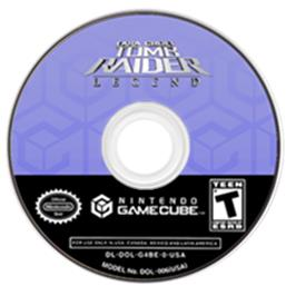 Artwork on the Disc for Lara Croft Tomb Raider: Legend on the Nintendo GameCube.