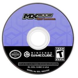 Artwork on the Disc for MX Superfly Featuring Ricky Carmichael on the Nintendo GameCube.