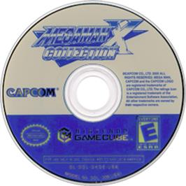 Artwork on the Disc for Mega Man X Collection on the Nintendo GameCube.
