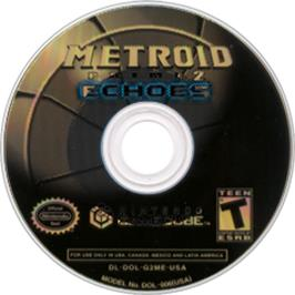 Artwork on the Disc for Metroid Prime 2: Echoes on the Nintendo GameCube.