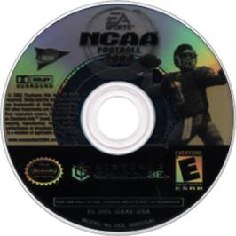 Artwork on the Disc for NCAA Football 2004 on the Nintendo GameCube.