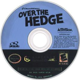 Artwork on the Disc for Over the Hedge on the Nintendo GameCube.