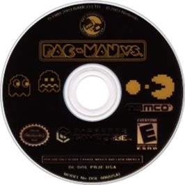 Artwork on the Disc for Pac-Man Vs. on the Nintendo GameCube.