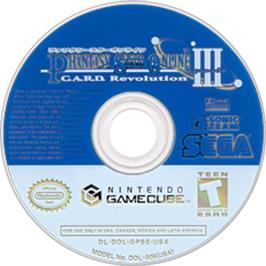 Artwork on the Disc for Phantasy Star Online Episode III: C.A.R.D. Revolution on the Nintendo GameCube.