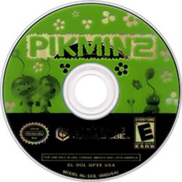 Artwork on the Disc for Pikmin 2 on the Nintendo GameCube.