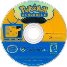 Artwork on the Disc for Pokemon Channel on the Nintendo GameCube.