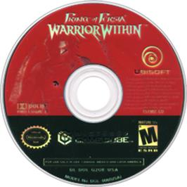 Artwork on the Disc for Prince of Persia: Warrior Within on the Nintendo GameCube.
