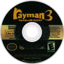 Artwork on the Disc for Rayman 3: Hoodlum Havoc on the Nintendo GameCube.
