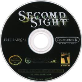 Artwork on the Disc for Second Sight on the Nintendo GameCube.