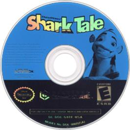 Artwork on the Disc for Shark Tale on the Nintendo GameCube.