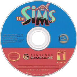 Artwork on the Disc for Sims on the Nintendo GameCube.