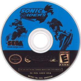 Artwork on the Disc for Sonic Riders on the Nintendo GameCube.