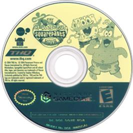 Artwork on the Disc for SpongeBob SquarePants: The Movie on the Nintendo GameCube.