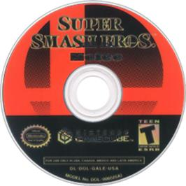 Artwork on the Disc for Super Smash Bros.: Melee on the Nintendo GameCube.