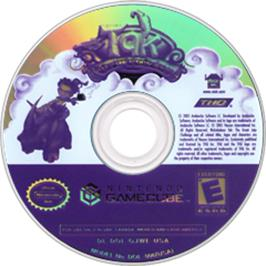 Artwork on the Disc for Tak: The Great Juju Challenge on the Nintendo GameCube.