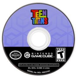 Artwork on the Disc for Teen Titans on the Nintendo GameCube.