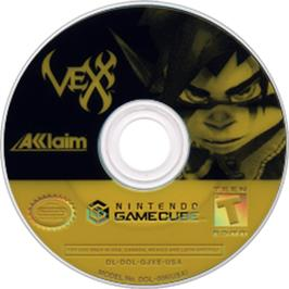 Artwork on the Disc for Vexx on the Nintendo GameCube.