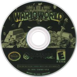 Artwork on the Disc for Wario World on the Nintendo GameCube.