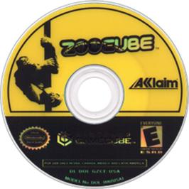 Artwork on the Disc for ZooCube on the Nintendo GameCube.