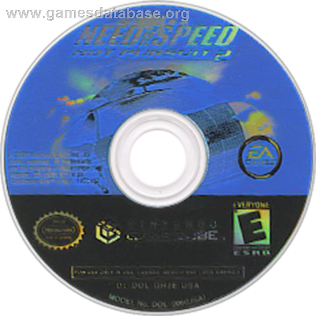 Need For Speed Hot Pursuit 2 Nintendo Gamecube Artwork Disc