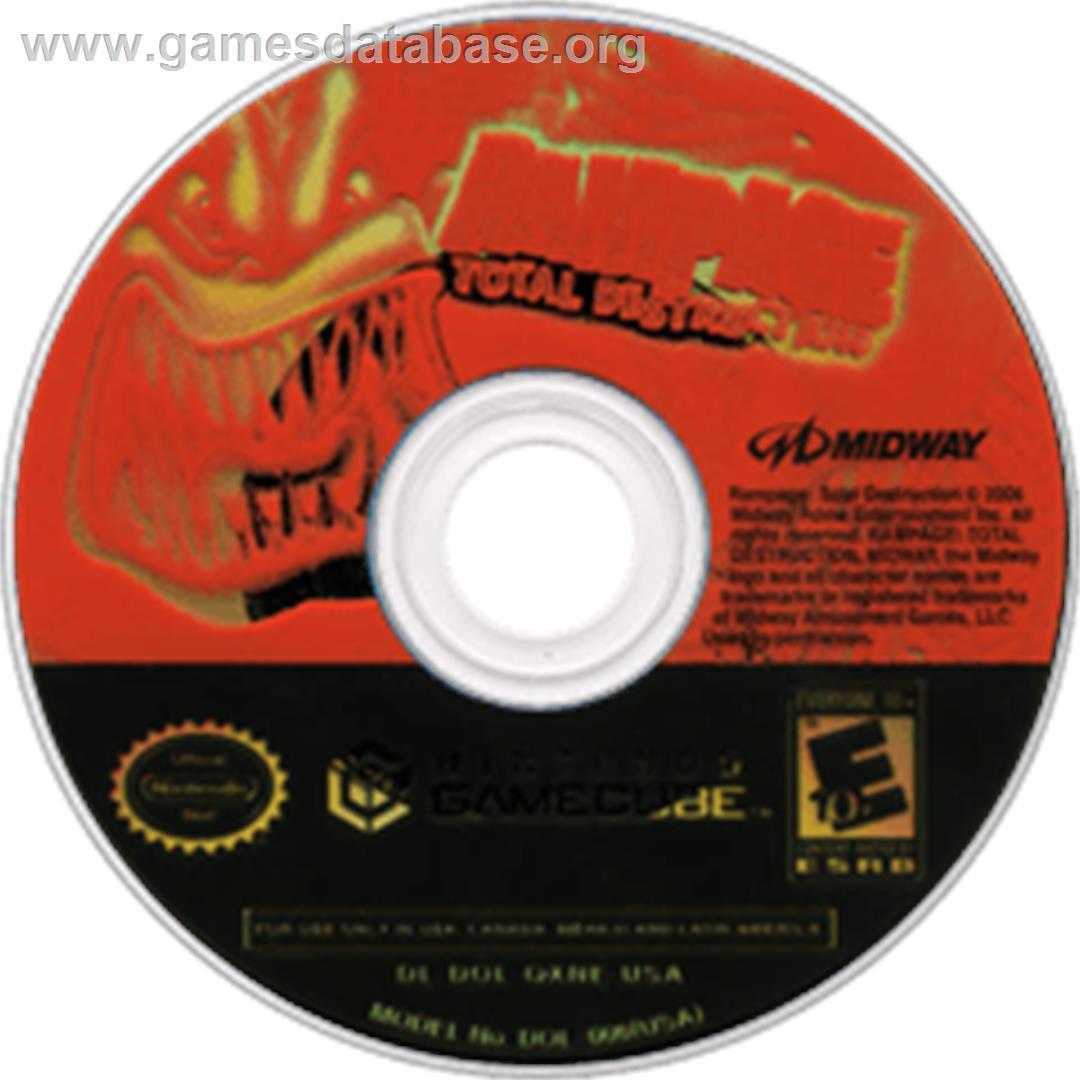 Rampage Total Destruction Nintendo Gamecube Artwork Disc