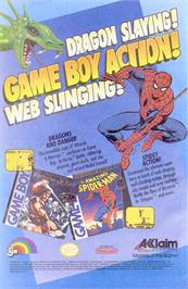 Advert for Amazing Spider-Man on the Commodore Amiga.