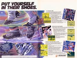 Advert for Blades of Steel on the Nintendo Game Boy.