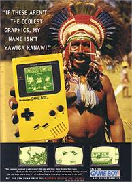 Advert for Donkey Kong Land on the Nintendo Game Boy.