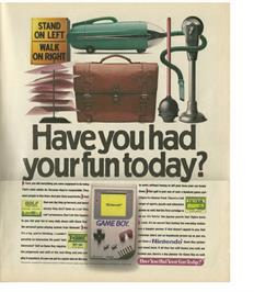 Advert for Golf on the Nintendo Arcade Systems.