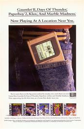 Advert for Klax on the Nintendo Game Boy.