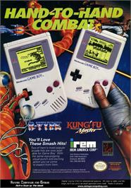 Advert for Kung-Fu Master on the Nintendo Game Boy.