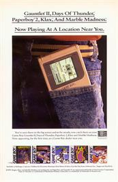 Advert for Paperboy 2 on the Sega Game Gear.
