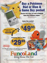 Advert for Pokemon - Red Version on the Nintendo Game Boy.