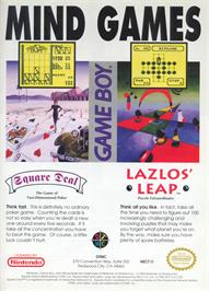 Advert for Square Deal: The Game of Two Dimensional Poker on the Nintendo Game Boy.