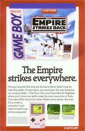 Advert for Star Wars: The Empire Strikes Back on the Nintendo Game Boy.