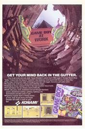 Advert for Teenage Mutant Ninja Turtles II:  Back from the Sewers on the Nintendo Game Boy.