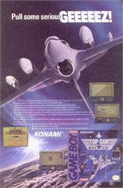 Advert for Top Gun: Guts & Glory on the Nintendo Game Boy.