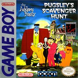 Box cover for Addams Family: Pugsley's Scavenger Hunt on the Nintendo Game Boy.